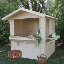 chiosco in legno grezzo Mojito 2,92 m², 2 ribalte