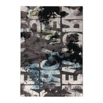 Tappeto Metropolitan NYC nero, grigio 133 x 190 cm