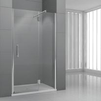 Porta doccia battente Modulo 118-121, H 195 cm cristallo 6 mm trasparente/cromo