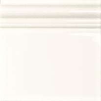 Piastrella con decoro Skirting bianco 15 x 15 cm
