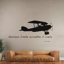 Sticker Words Up XXL Airplane