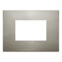 Placca 3 moduli Vimar Arké acciaio spazzolato