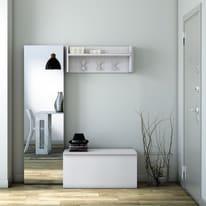 Appendiabiti ingresso in kit bianco L 90 x P 28 x H 34 cm