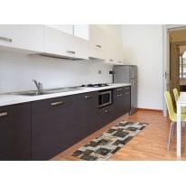 Tappetino cucina antiscivolo Full nodo marrone 55 x 180 cm