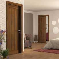 Porta da interno battente Sargas noce 80 x H 210 cm sx