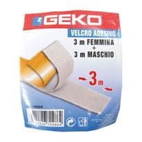 Velcro adesivo Geko bianco 3 m x 20 mm