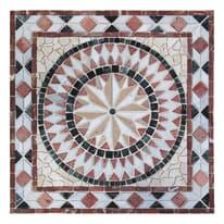 Rosone Diamante bianco,rosso,beige 67 x 67 cm