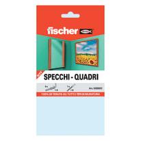 6 kit di fissaggio Fischer Specchi - quadri ø 9 x 40  mm con gancio corto