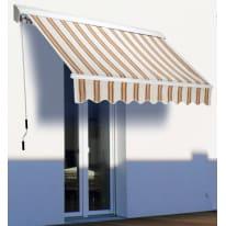 Tenda da sole a bracci estensibili su barra quadra 300 x 200 cm beige