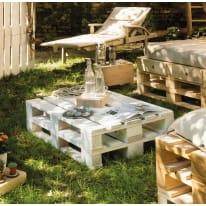 Pallet singolo legno L 120 x P 80 x H 14,5 cm verniciato bianco