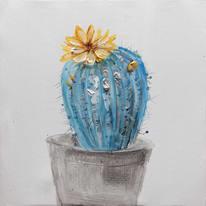 quadro dipinto a mano Cactus1 30x30