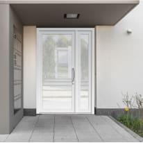 portoncino d'ingresso PVC Condo5 bianco L 132 x H 210 sx