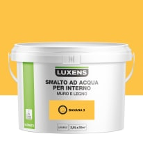 Smalto Luxens all'acqua Giallo Banana 3 satinato 2.5 L