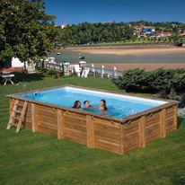 92f2d7d96e3 Piscina In legno ovale cannelle 551 x 351 cm prezzi e offerte online ...