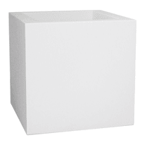 Vaso Kube Gloss 40 x 40 cm bianco