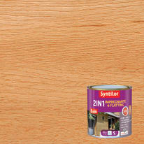 Impregnante e flatting 2 in 1 ad acqua 8 anni Syntilor rovere brillante 0,5 L