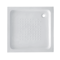 Piatto doccia ceramica Quadro 65 x 65 cm bianco