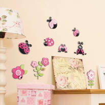 Sticker 3 Levels - M Pink ladybugs