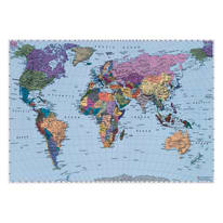 Fotomurale World map multicolor 188 x 270 cm