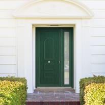 portoncino d'ingresso PVC Classic3 verde L 132 x H 210 sx