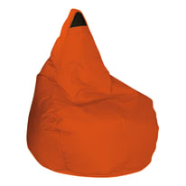Cuscino pouf Pera idrorepellente arancione 100 x 70 cm