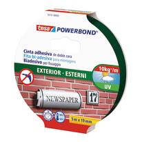 Nastro biadesivo Powerbond esterni Tesa 5 m x 15 mm