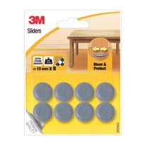 8 pattini adesivi Ø 19 mm