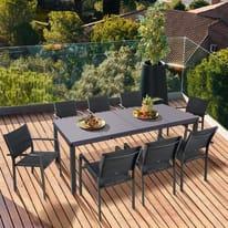 Set tavolo e sedie Odyssea antracite
