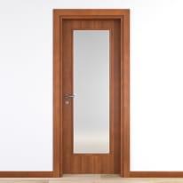 Porta da interno battente Diamond noce biondo 90 x H 210 cm reversibile