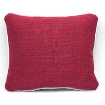 Cuscino Ilizia rosso Piping bianco 30 x 25 cm