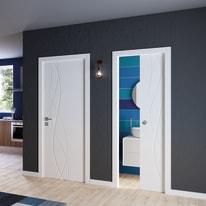 Porta da interno scorrevole Dna Laccato Bianco 60 x H 210 cm reversibile