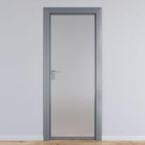 Porta per ufficio battente Office vetro temperato bianco satinato 60 x H 210 cm dx