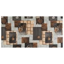 Tappetino cucina antiscivolo Full nodo marrone 55 x 230 cm