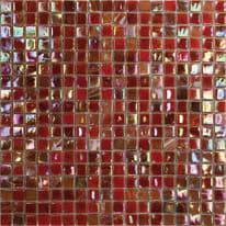 Mosaico Iridium red 30 x 30 cm rosso