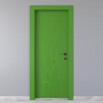 Porta da interno battente Blades green verde 80 x H 210 cm sx