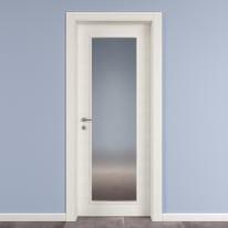 Porta da interno battente Star Vetro Bianco Matrix 60 x H 210 cm reversibile