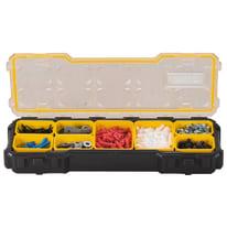 Organizer porta minuterie FMST1-75781, 8 comparti, colore nero/giallo