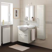 Mobile bagno Ginevra rovere bianco L 56,5 cm
