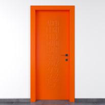 Porta da interno battente Keyboard orange arancio 90 x H 210 cm sx