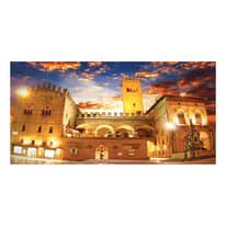 quadro su tela Bologna piazza Maggiore 70x140