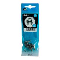 2 morsetti 3-4 mm in acciaio inox