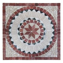 Rosone Venezia bianco,rosso,beige 67 x 67 cm