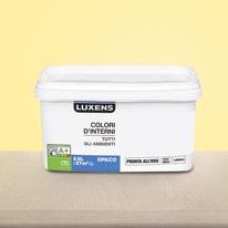 Idropittura lavabile Mano unica Giallo Canarino 6 - 2,5 L Luxens