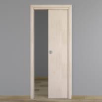 Porta da interno scorrevole Notting Hill pino sbiancato 80 x H 210 cm reversibile