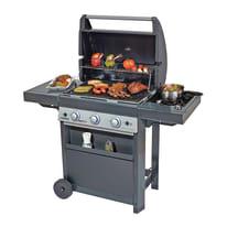 Barbecue a gas BBQ GAS 3+1 LBS DUAL GAS-GPL/METANO 3 bruciatori