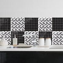 Sticker Tile Mosaico nero & bianco