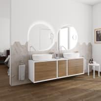 Mobile bagno Bellagio rovere L 176 cm
