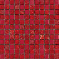 Mosaico Lacca 30 x 30 cm rosso