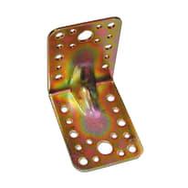 Piastra piegata 85 x 65 mm, in acciaio zincato ad alta resistenza alla corrosione