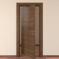 Porta da interno rototraslante Tussauds Cacao 70 x H 210 cm sx